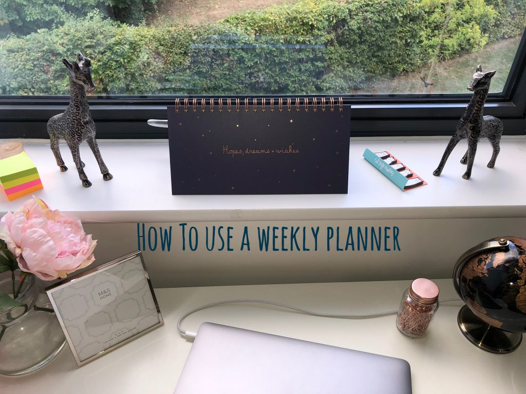 How To Use A Weekly Planner – Self Care graphic
