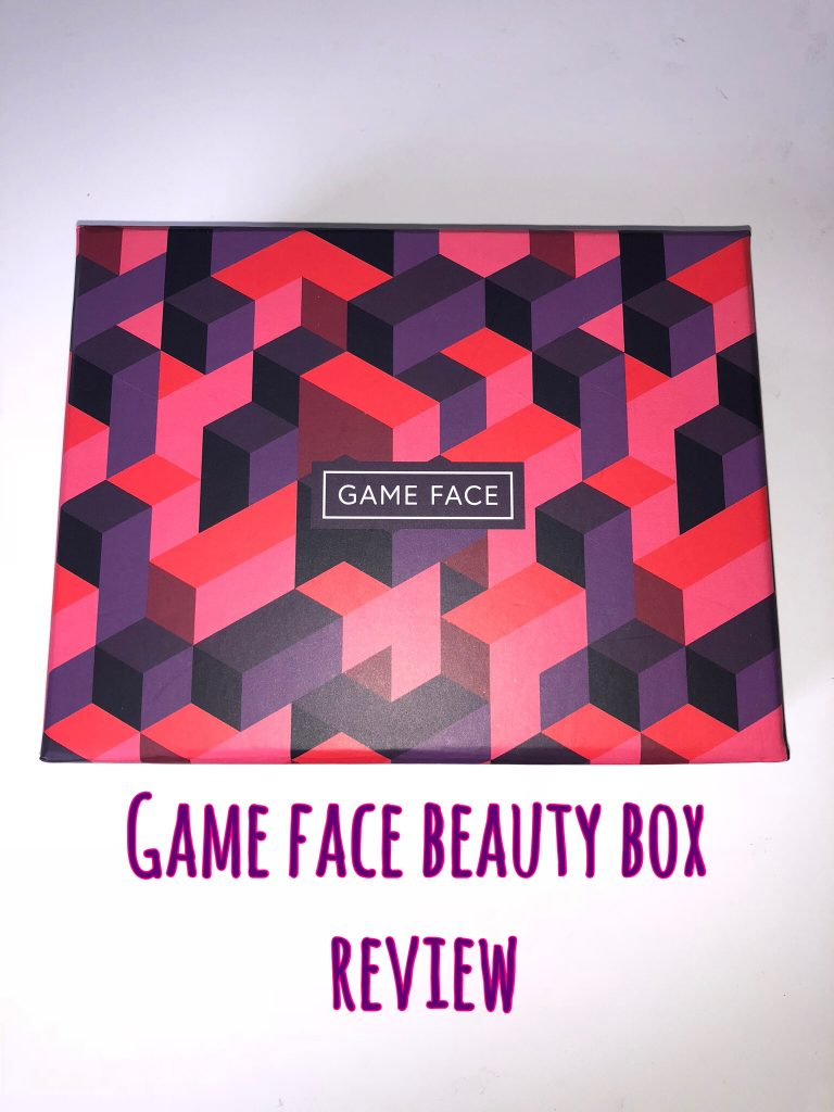 Game Face Beauty Box Review graphic