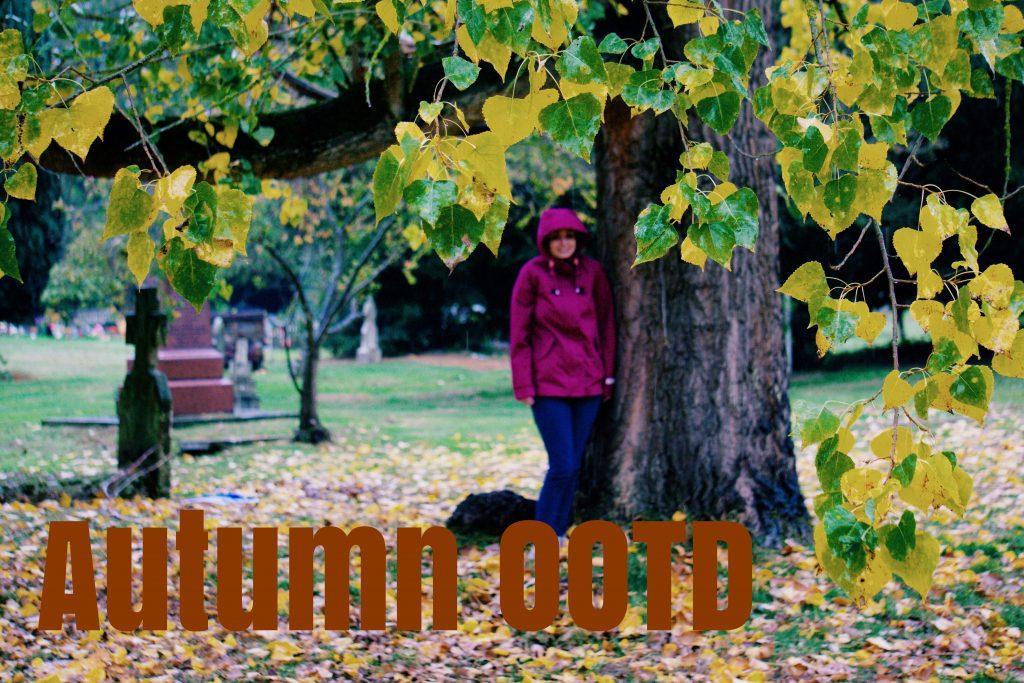 Rainy Day Autumn OOTD graphic