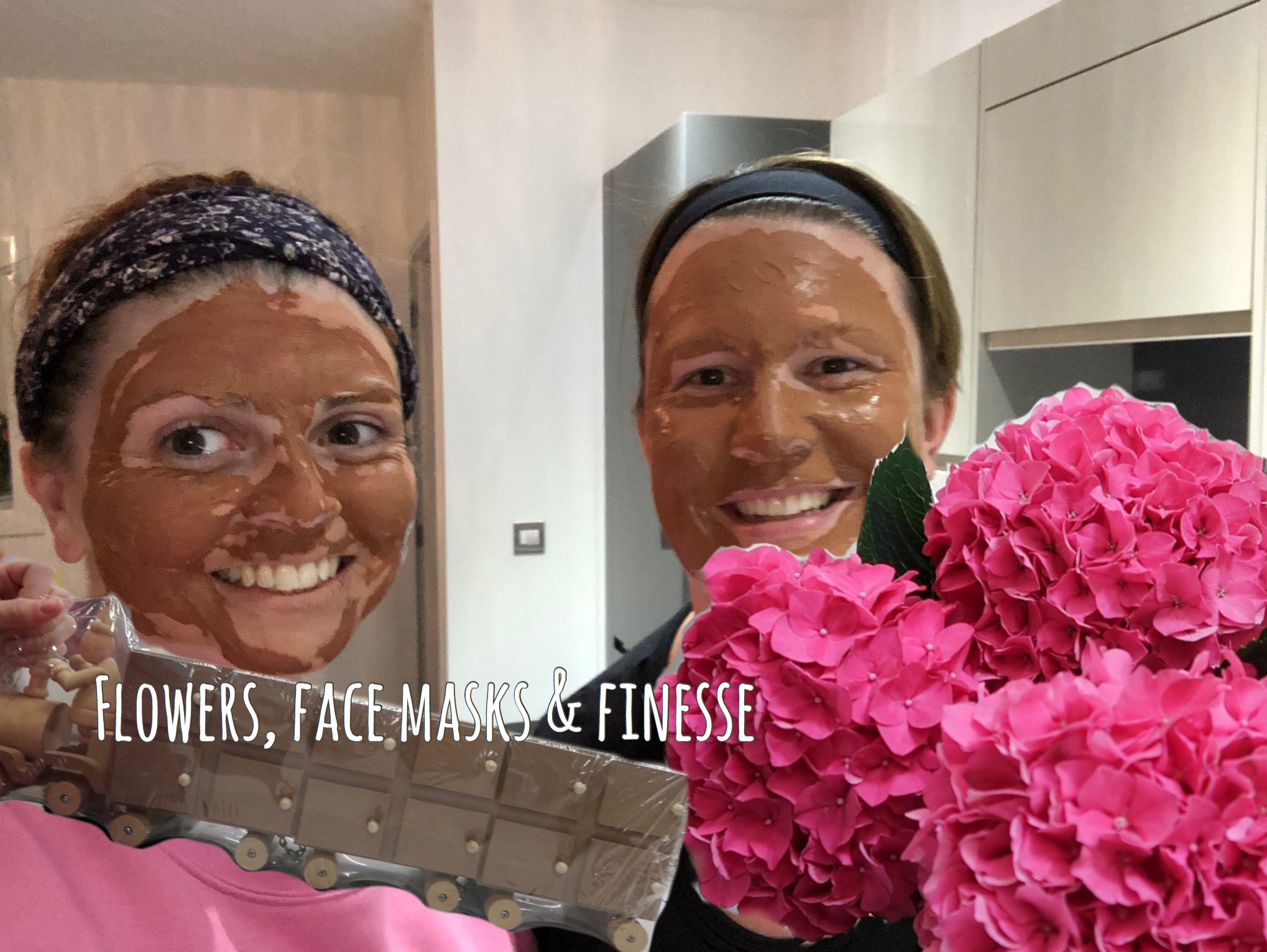 flowers, face masks and finesse