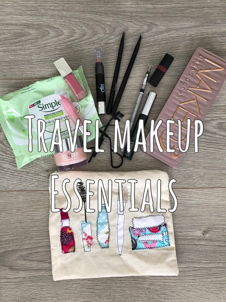 My Travel Makeup Essentials graphic