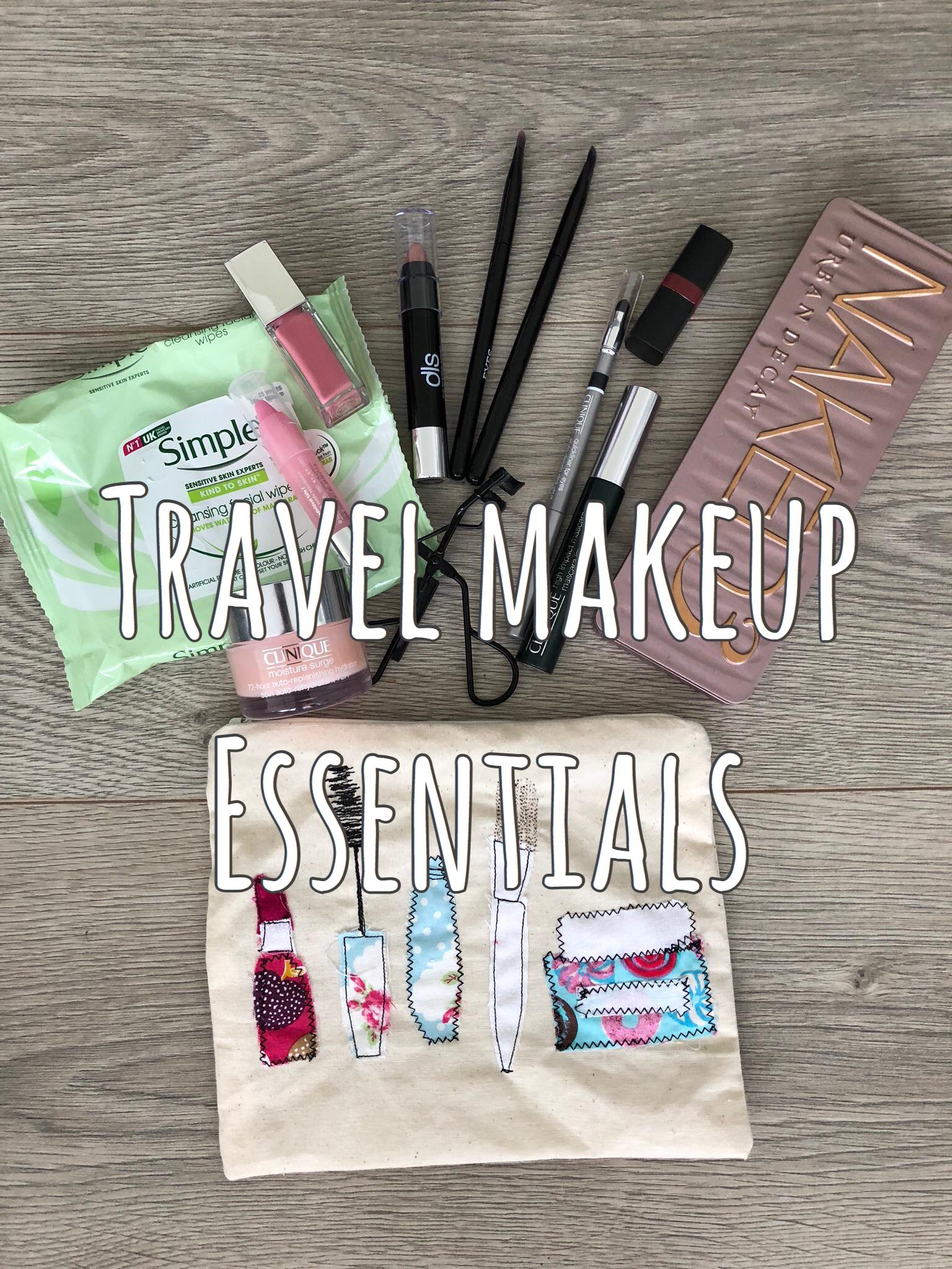 My Travel Makeup Essentials graphic