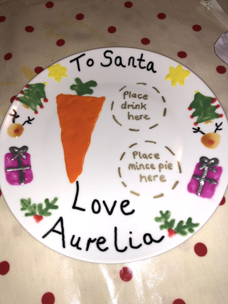 Make Your Own Christmas Eve Plate graphic