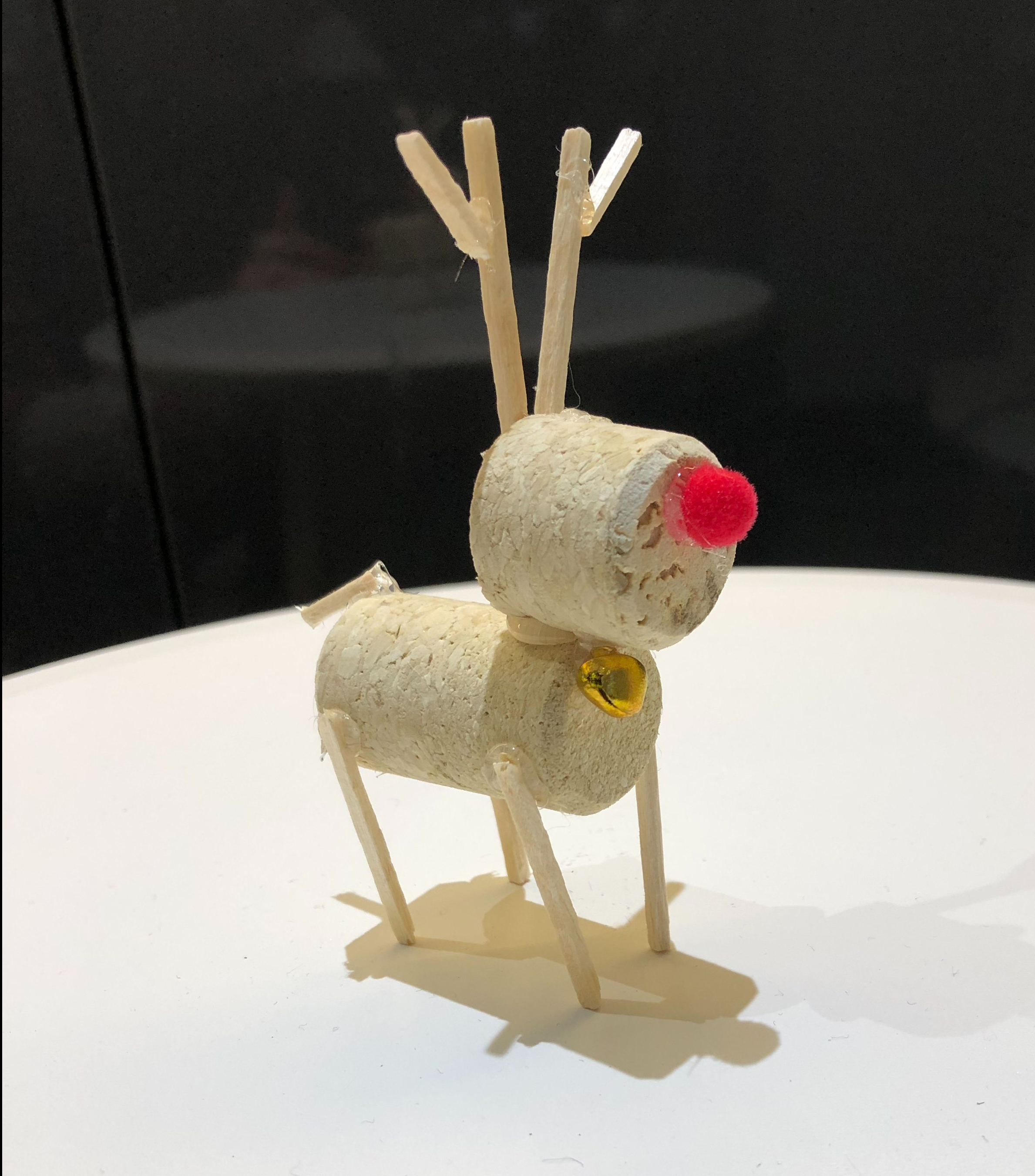 DIY Cork Reindeer graphic