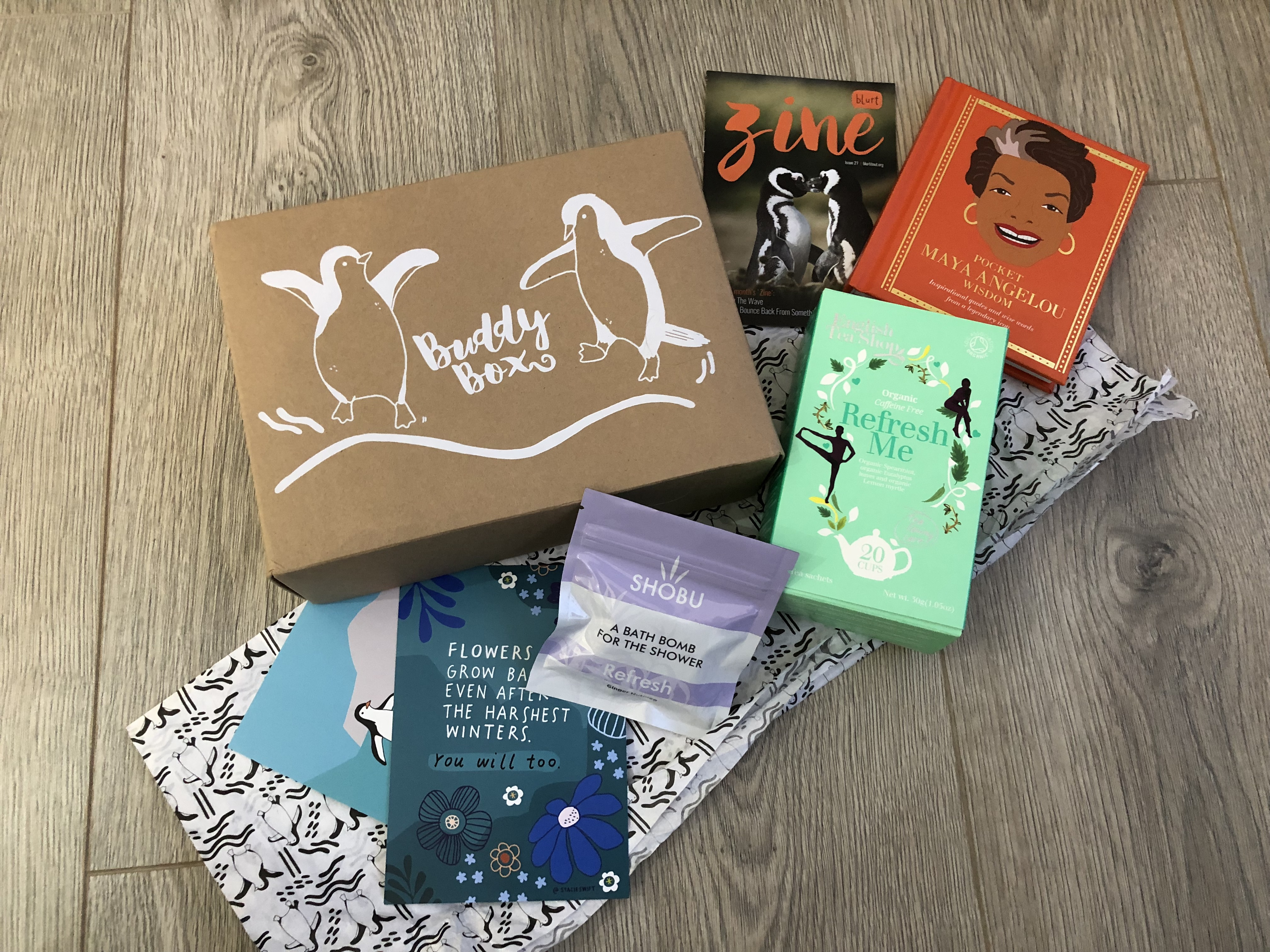 Waddle Be – January Buddy Box graphic