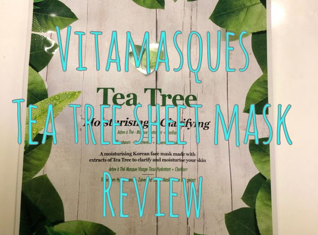 Vitamasques Tea Tree Face Mask Review