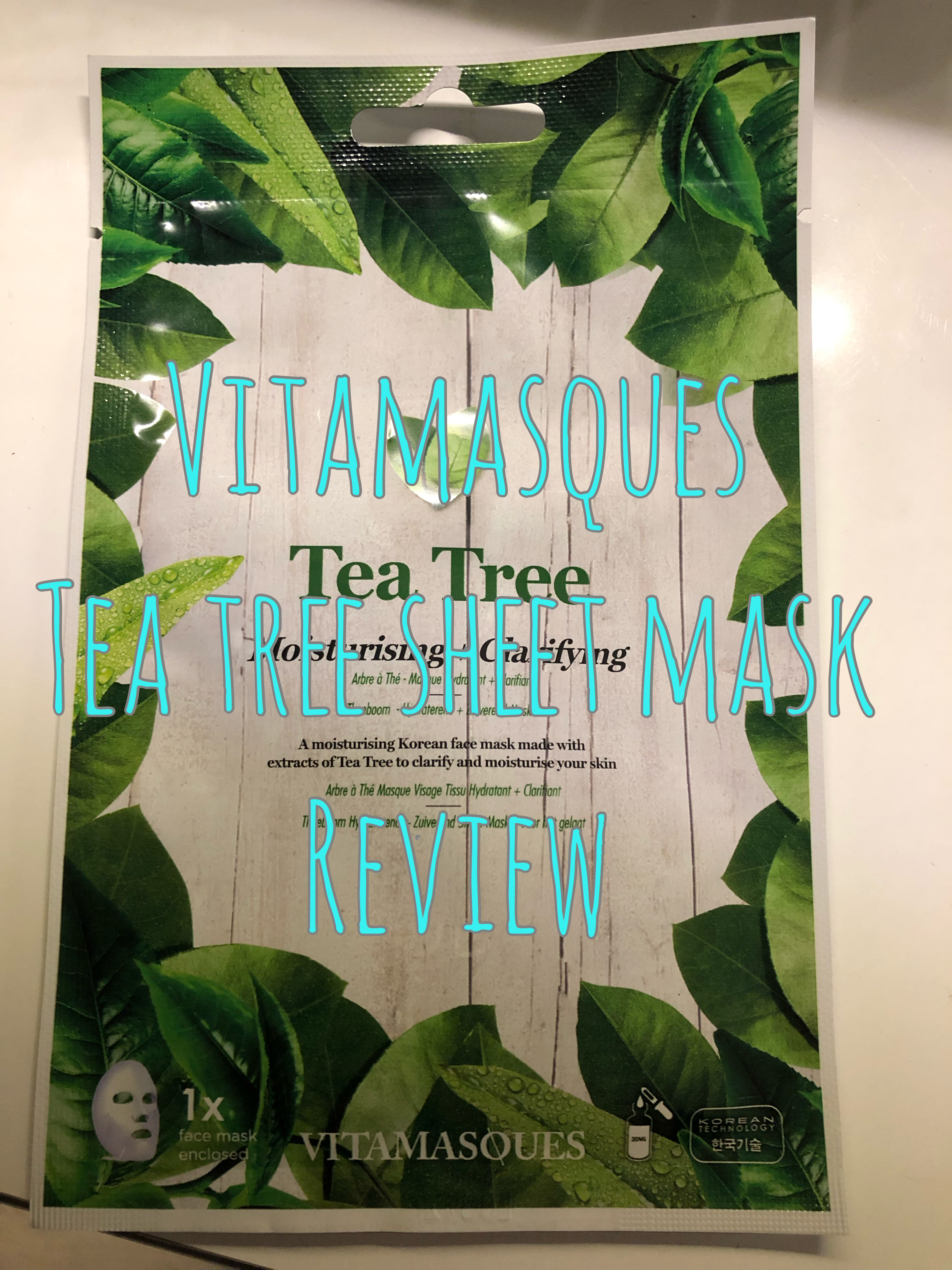 Vitamasques Tea Tree Face Mask Review graphic
