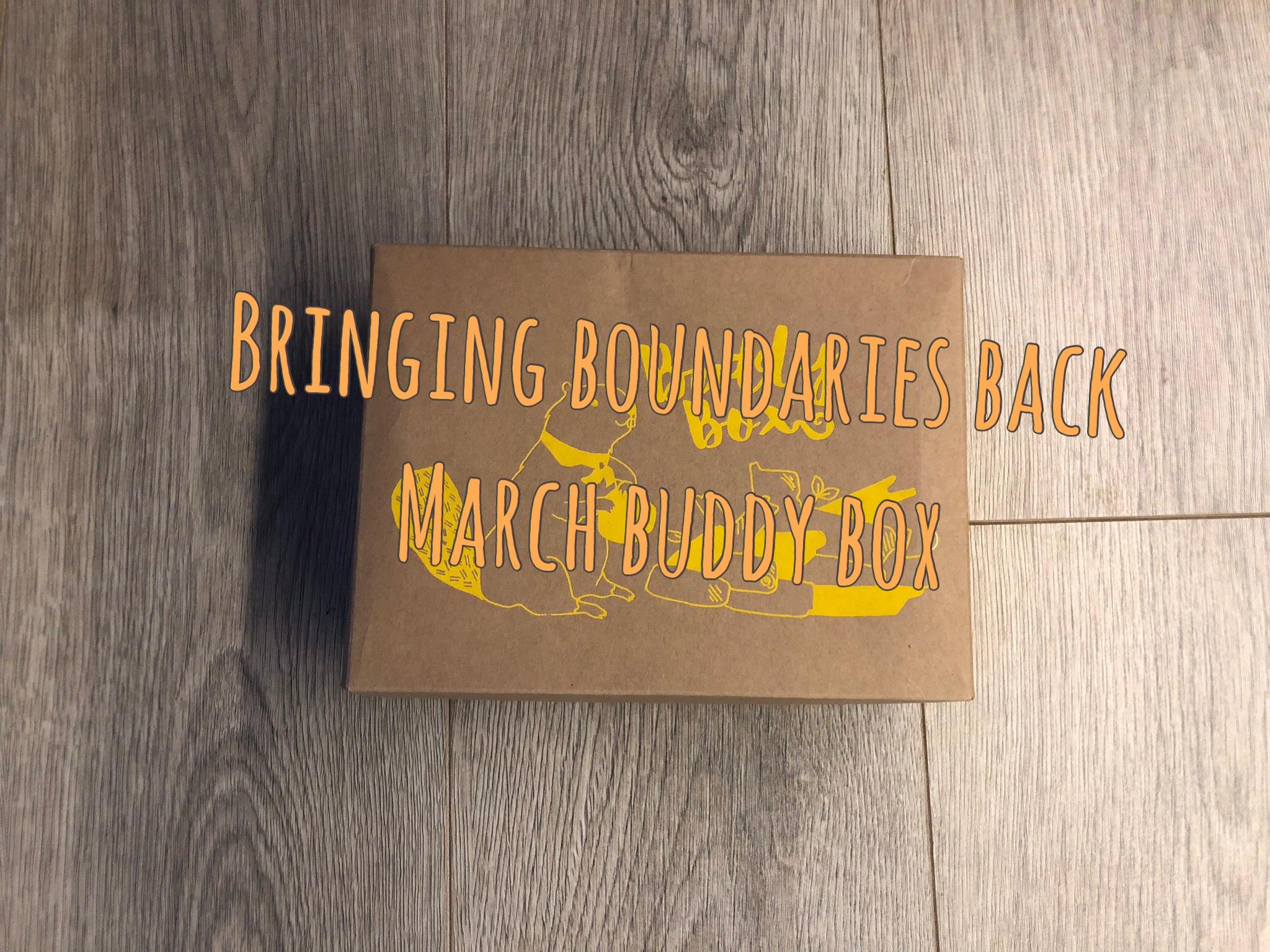 Bringing  Boundaries Back Buddy Box graphic