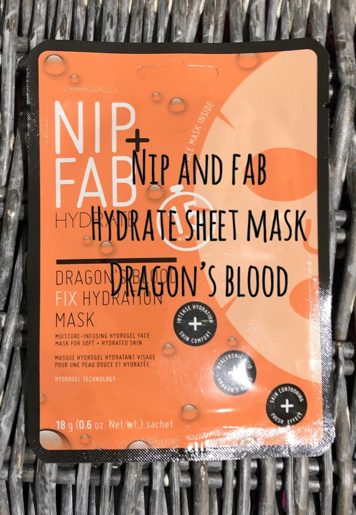 Nip + Fab Hyrdate Dragon's Blood Mask Review graphic