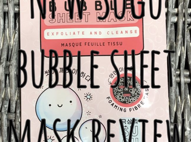 NPW Sugu Bubble Sheet Mask Review