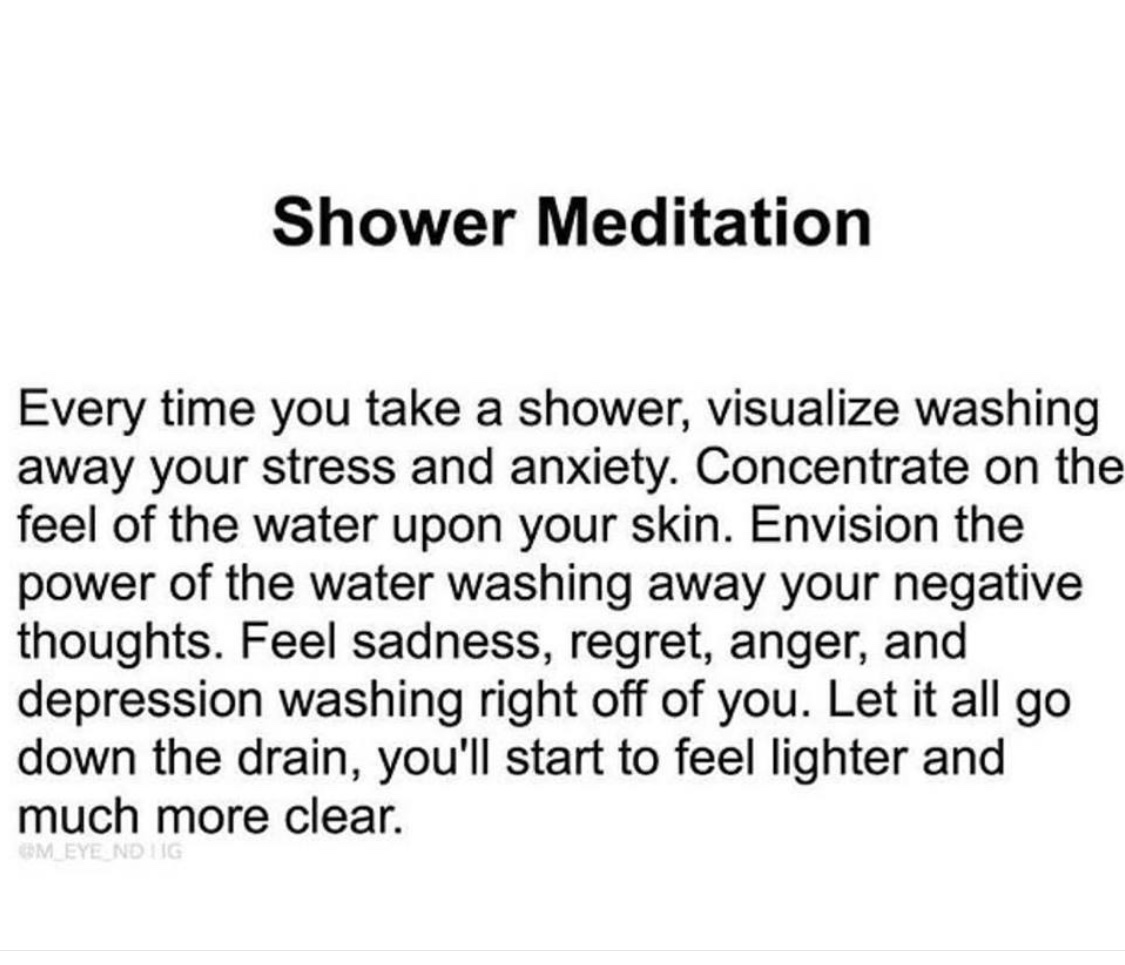 shower meditation