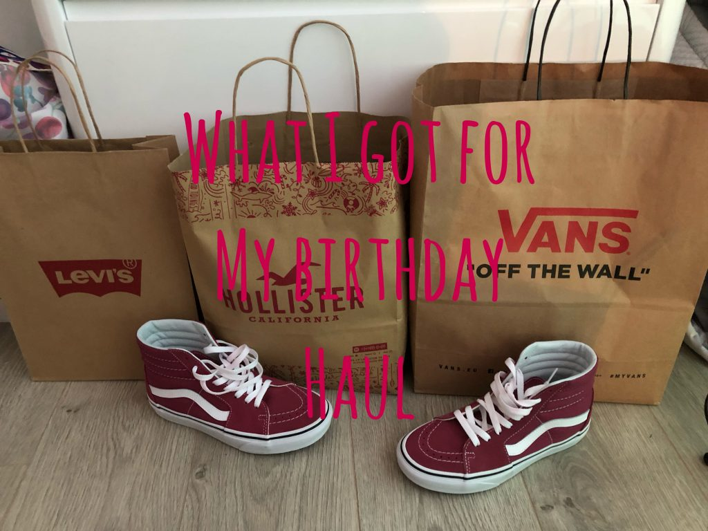What I Got For My Birthday Haul – Vans, Hollister, Bare Minerals and More graphic