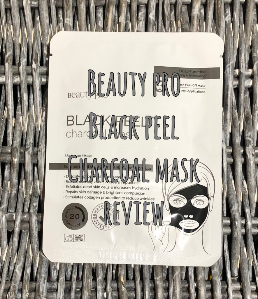 Beauty Pro Black Peel Charcoal Mask Review graphic
