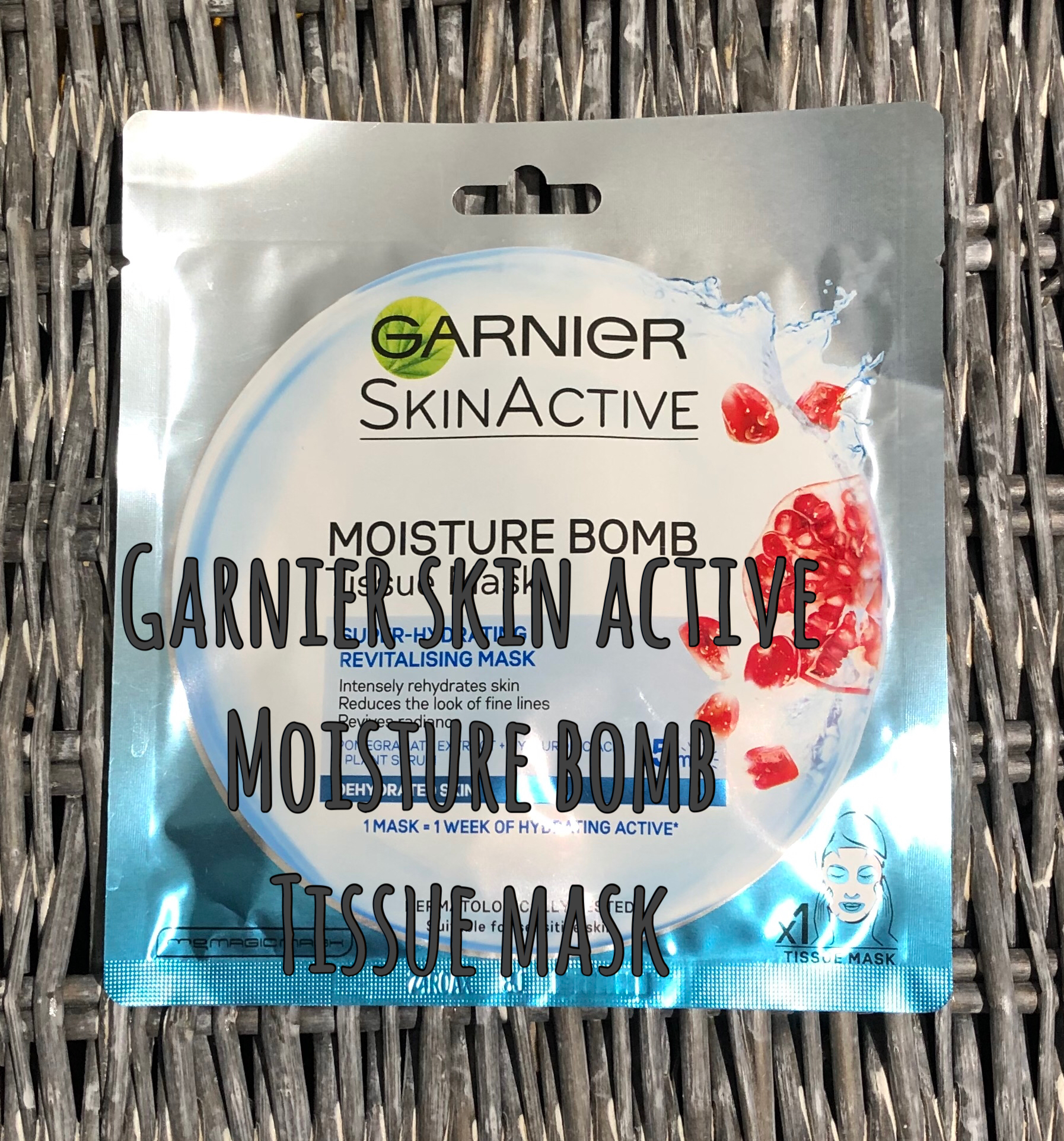 Garnier Skin Active Moisture Bomb Tissue Mask Review graphic