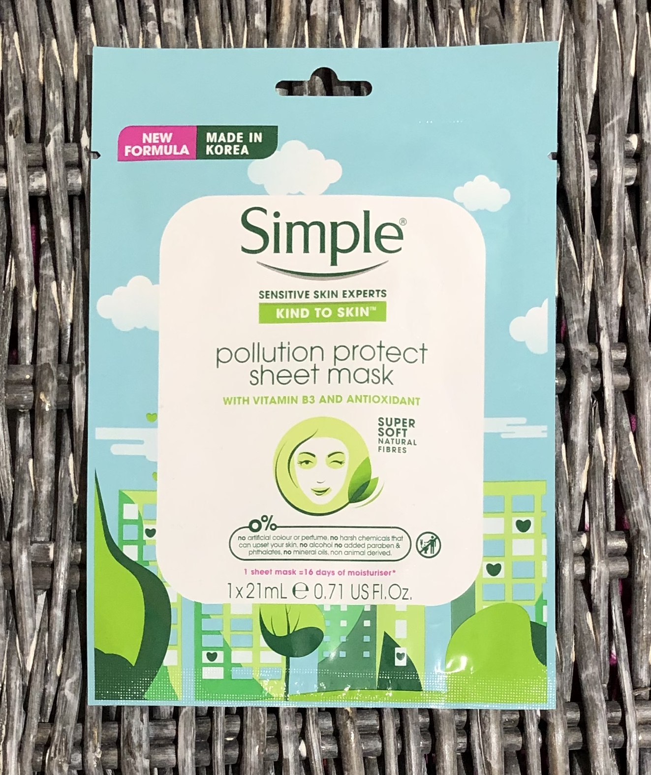 Simple Pollution Protect Sheet Mask Review graphic