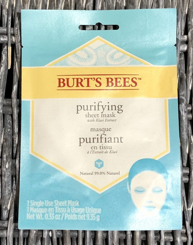 Burt's Bees Purifying Sheet Mask Review graphic