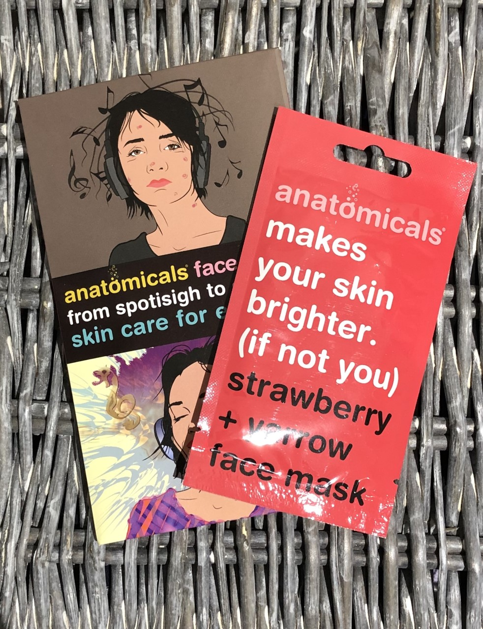 Anatomicals Makes Your Skin Brighter. (If not you) Strawberry & Yarrow Face Mask Review graphic
