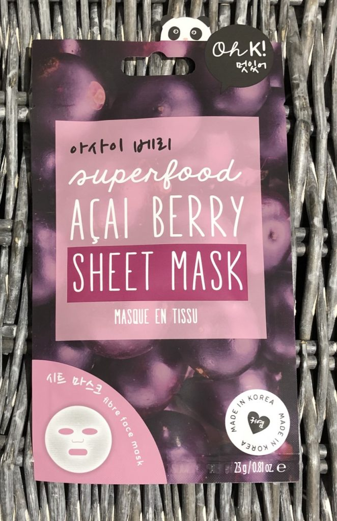 Oh k! Superfood Acai Berry Sheet Mask Review graphic