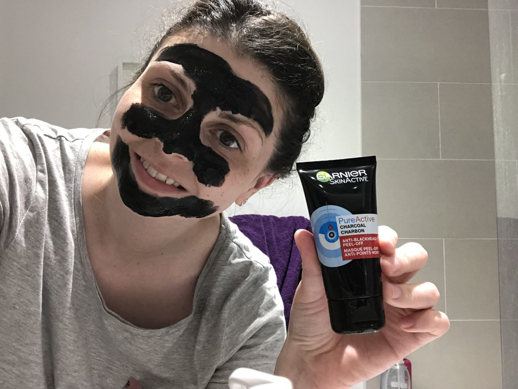 Garnier SkinActive Pure Active Charcoal Anti Blackhead Peel-Off Mask Review graphic