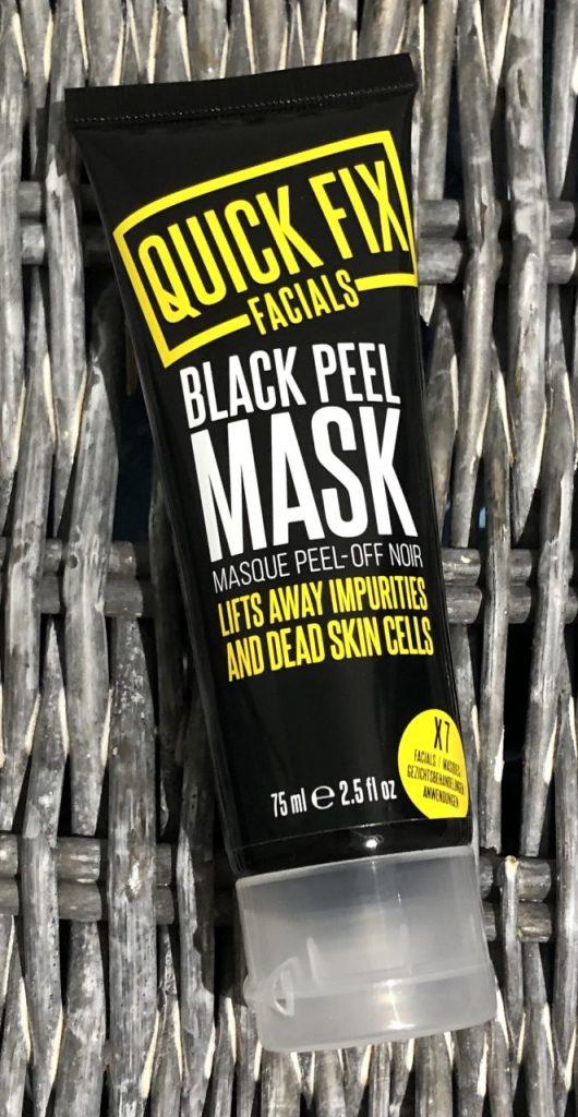 Quick Fix Facials Black Peel Mask Review graphic