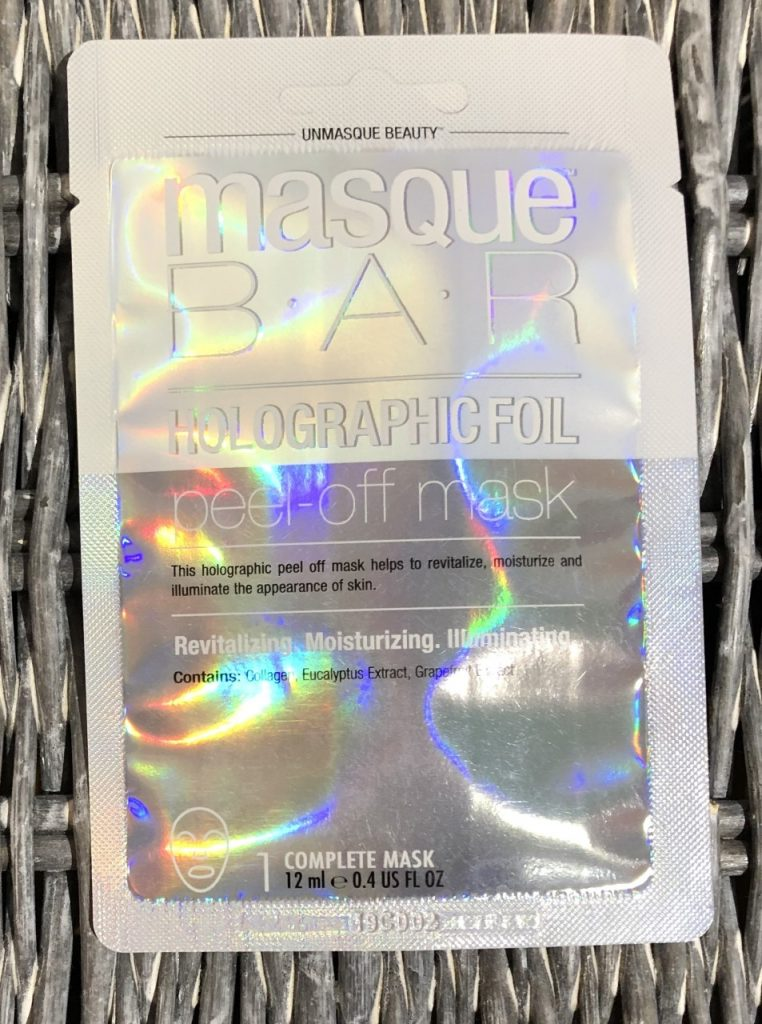Masque Bar Holographic Foil Peel-Off Mask Review graphic