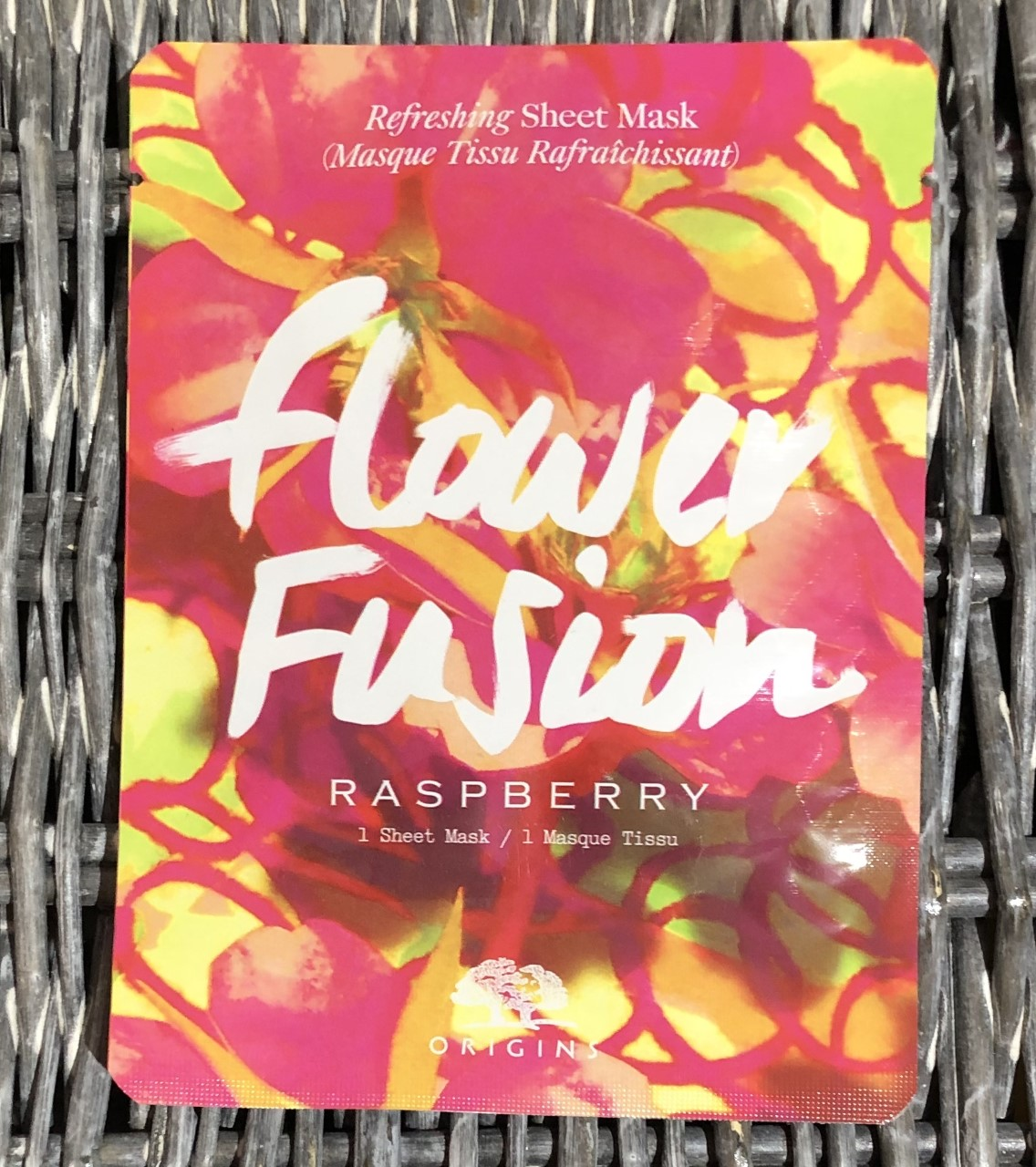 Origins Flower Fusion Raspberry Hydrating Mask Review graphic