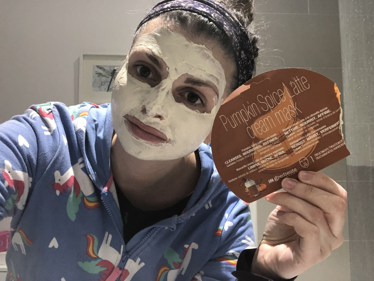 iN.gredients Pumpkin Latte Cream Mask Review graphic