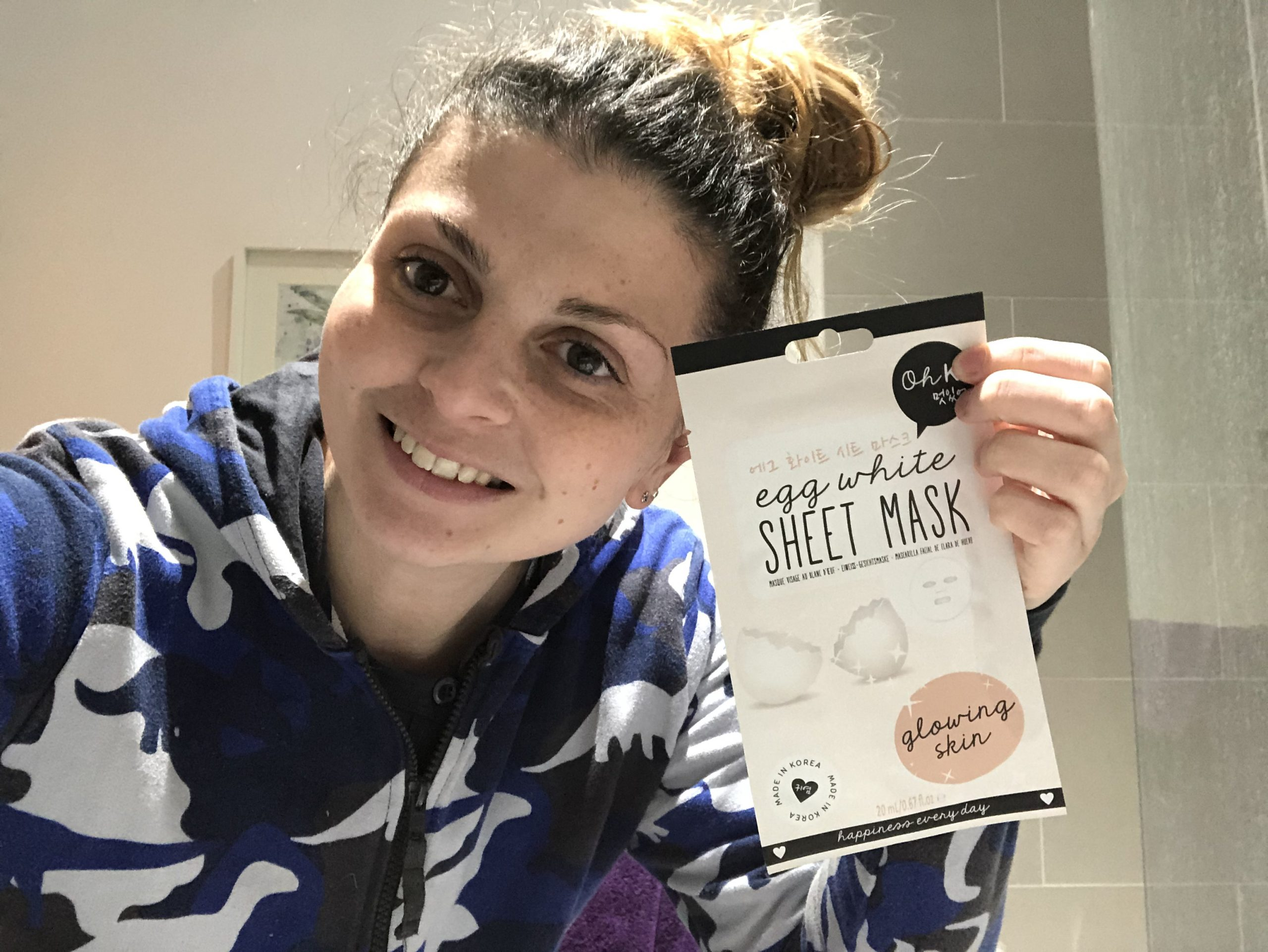 Oh K! Egg White Sheet Mask Review graphic