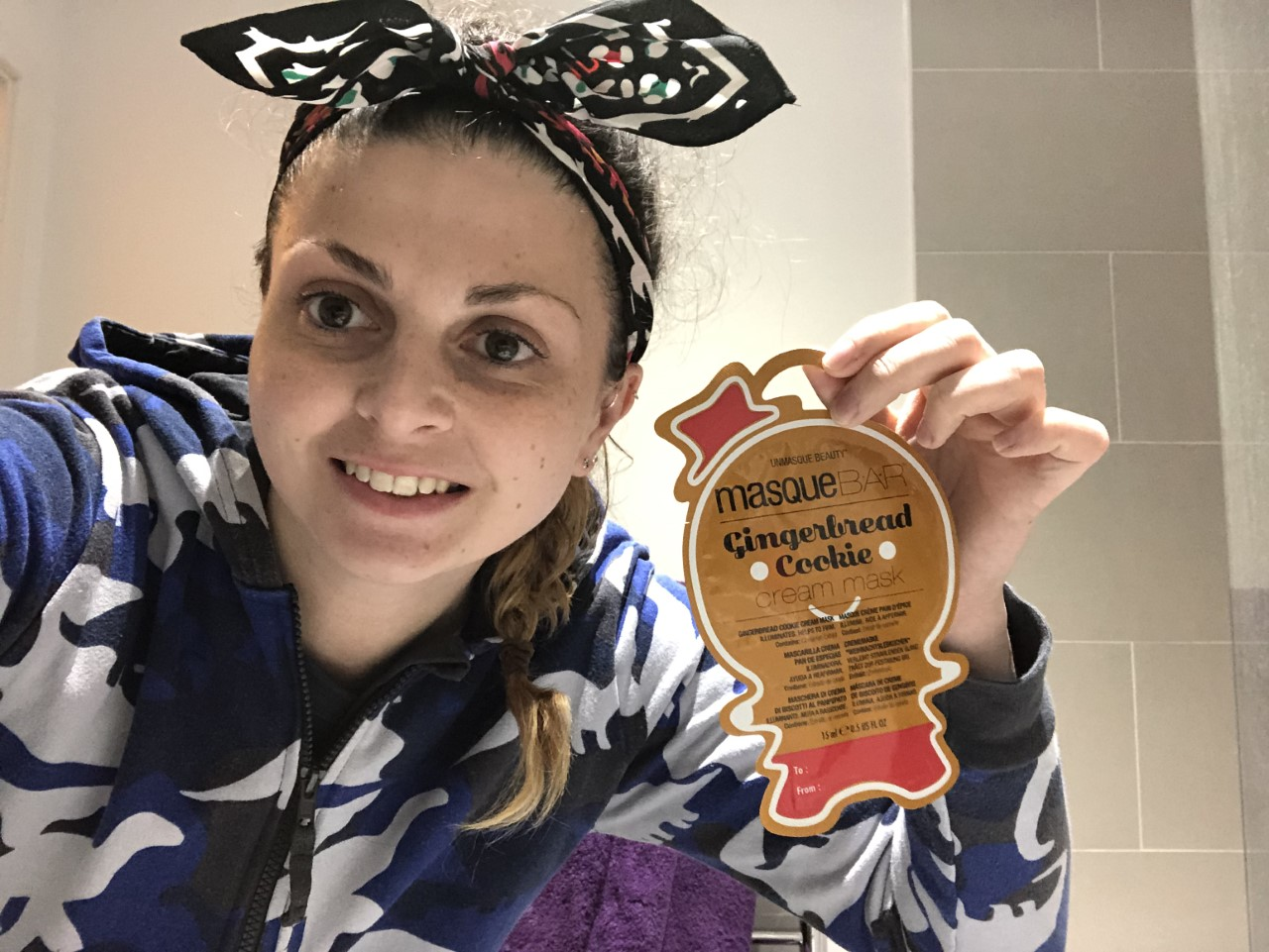 MasqueBar Gingerbread Cookie Cream Mask Review graphic