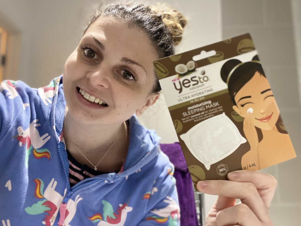 Yes To Coconut Ultra Hydrating Moisturizing Sleeping Mask Review graphic