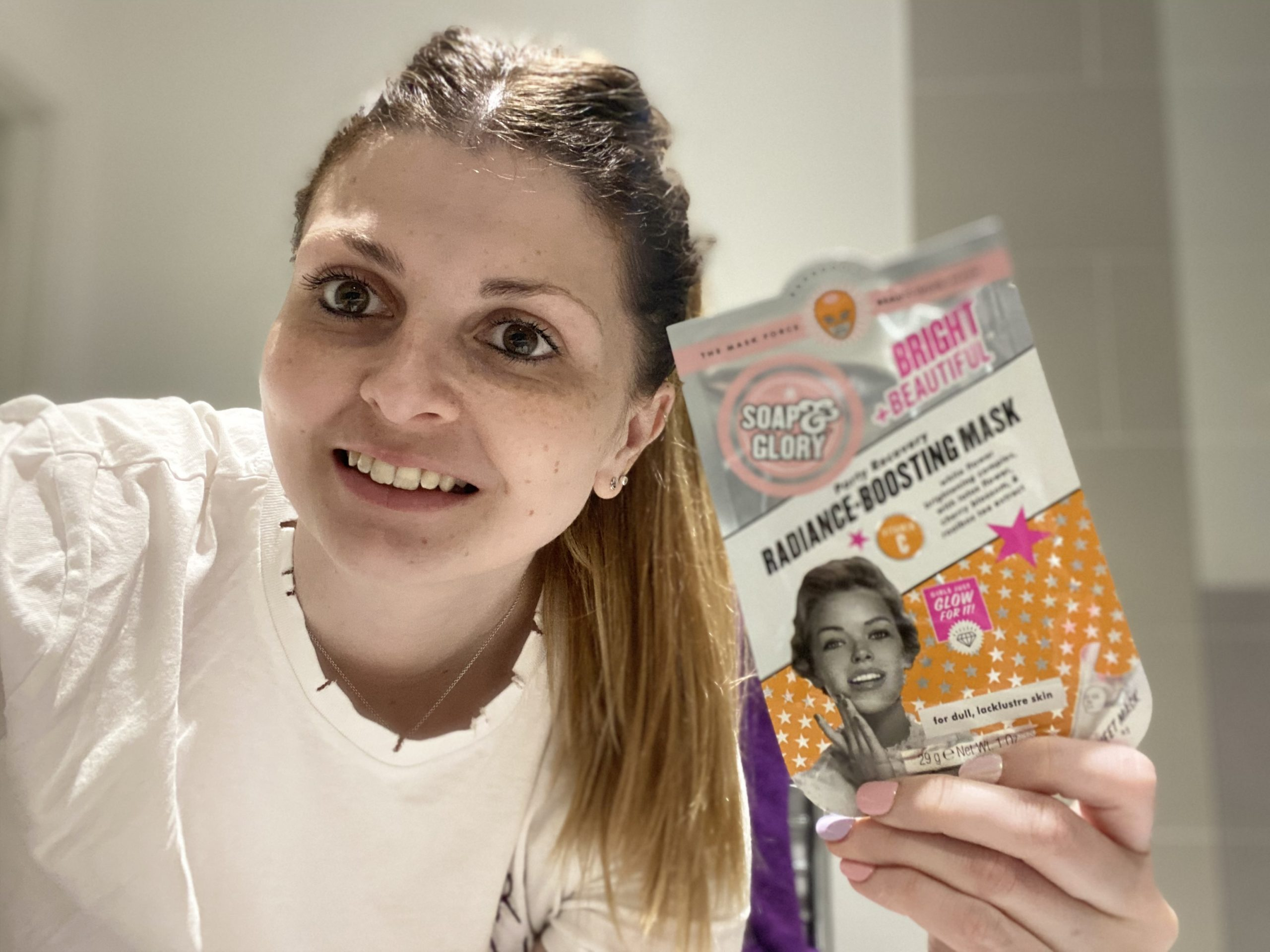 Soap & Glory Bright and Beautiful Sheet Mask Review graphic