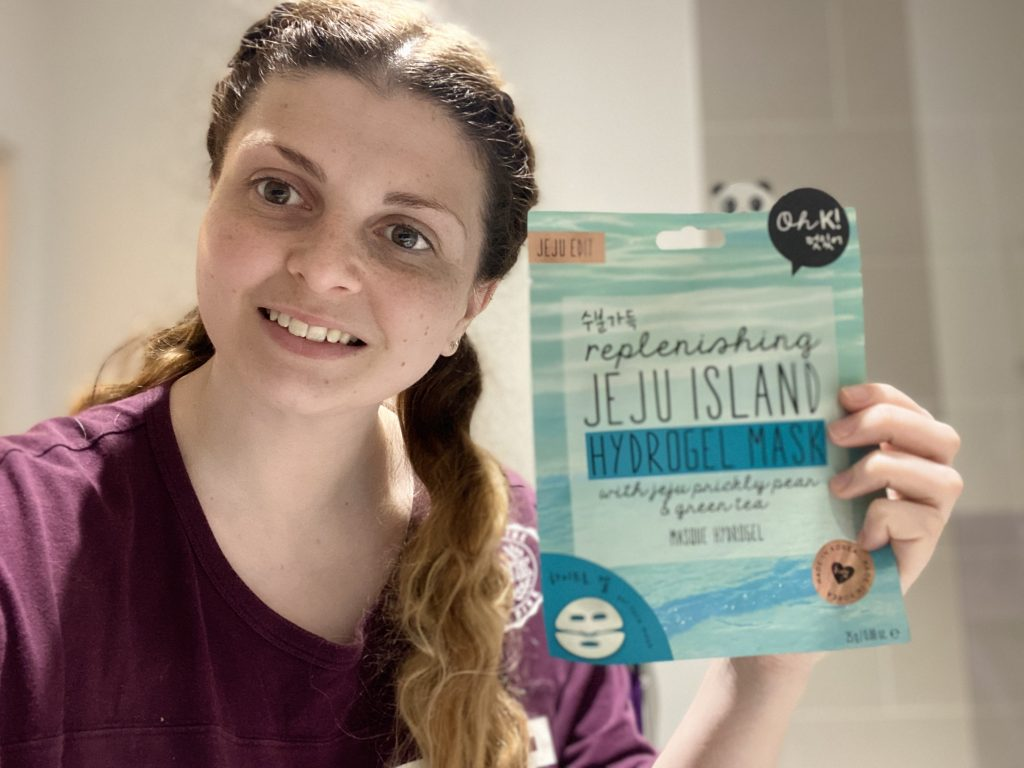 Oh K! Jeju Mineral Lava Sea Water Hydrogel Mask Review graphic